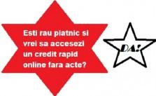 credit rapid online pentru rau pllatnici?